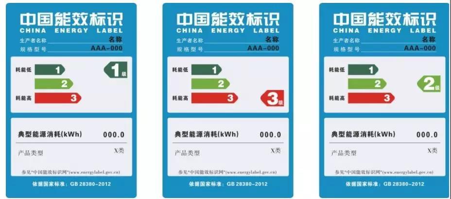 中国节能空压机能效标识参照表